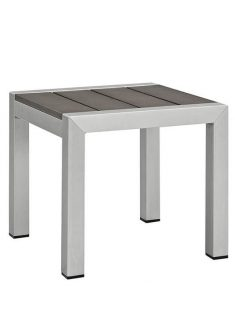Modern Outdoor Aluminum Wood Side Table 1 237x315