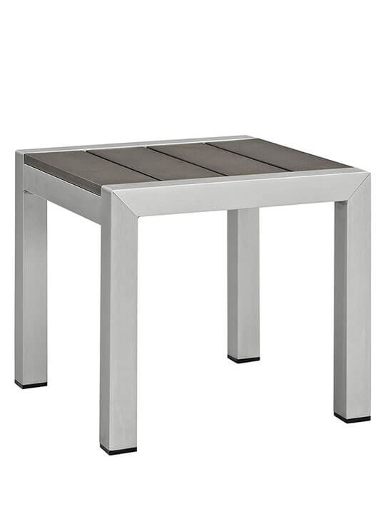 Modern Outdoor Aluminum Wood Side Table 1