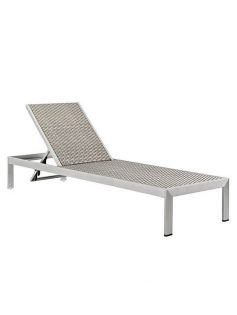 Silver rattan chaise lounge chair 237x315