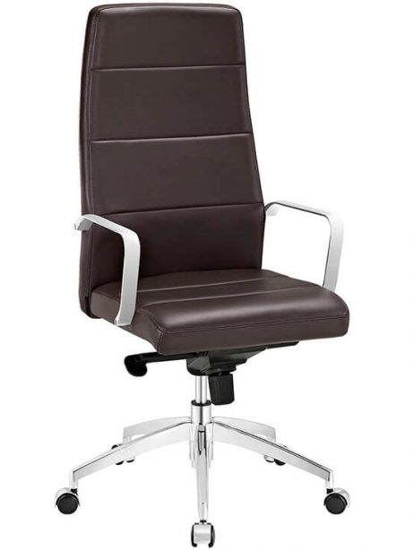 brown high back office chair 461x614