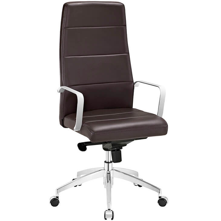 brown high back office chair