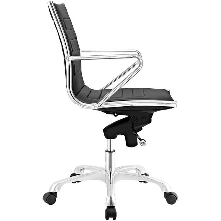 form black leather office chair 2