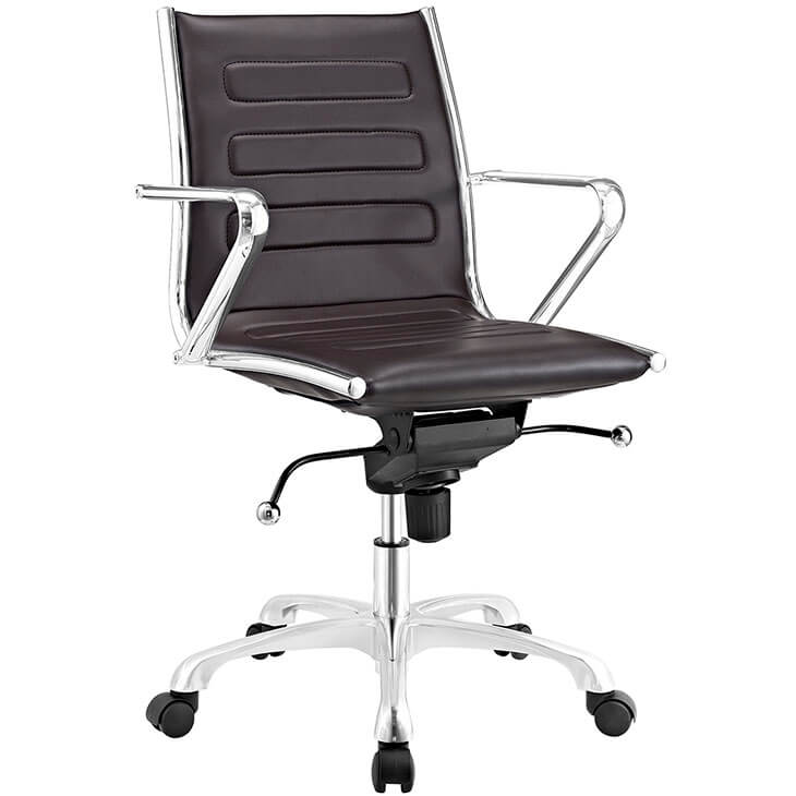 form brown leather office chair