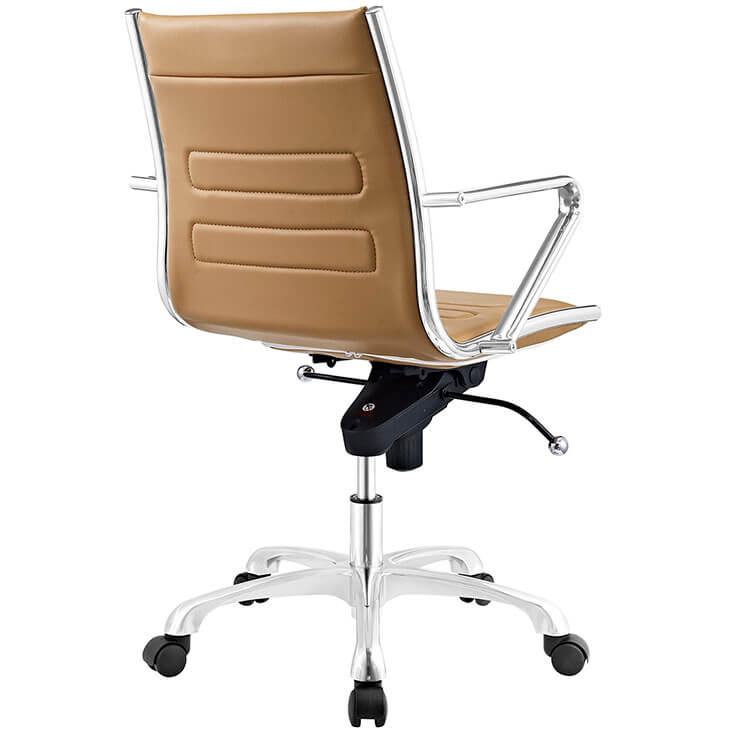 Form Tan Leather Office Chair 3