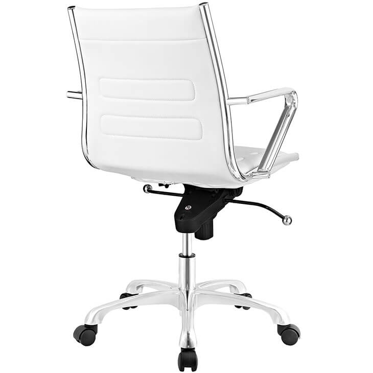 form white leather office chair 3