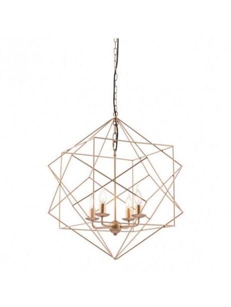 geometric gold wire pendant light  461x614