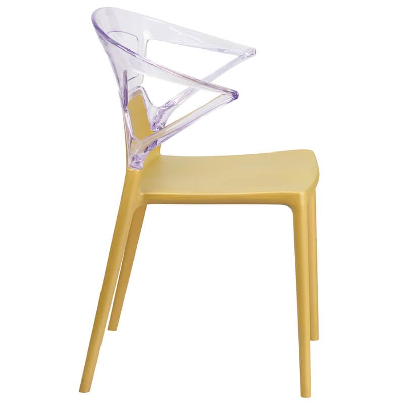 lemon clear yellow chair