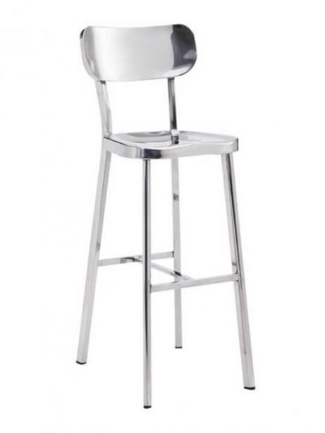metallic chrome barstool 461x614