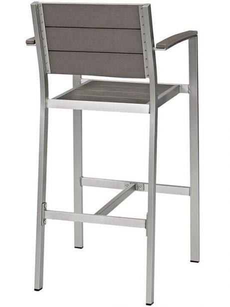 modern outdoor aluminum wood arm barstool 461x614