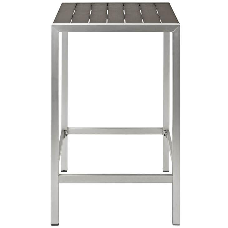 modern outdoor aluminum wood bar table 2