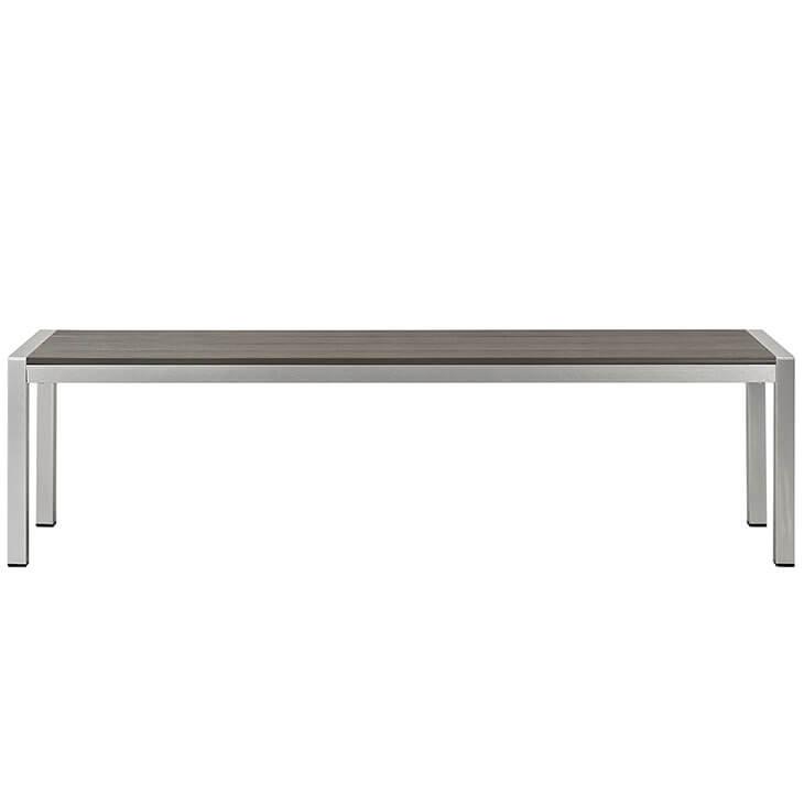 modern outdoor aluminum wood bench 2