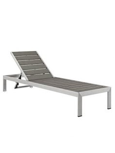modern outdoor aluminum wood chaise lounge chair 237x315