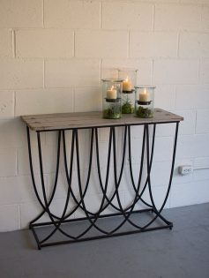 Black Tier Metal Wood Console Table 237x315