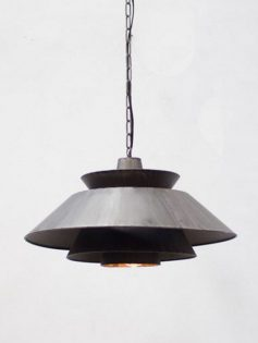 Black metal pendant Light 237x315