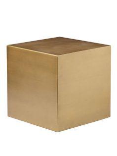 Brass Cube Stool 237x315
