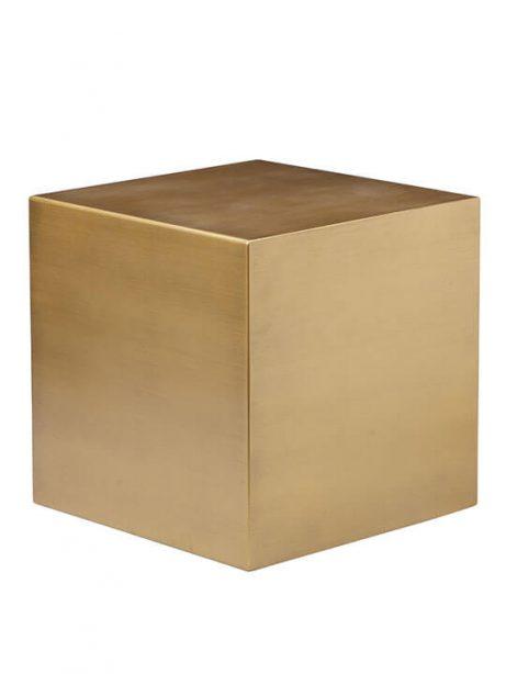 Brass Cube Stool 461x614