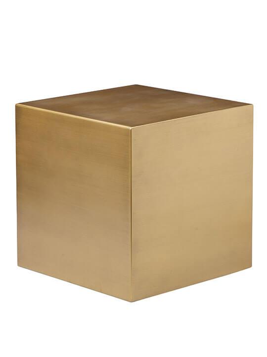 Brass Cube Stool