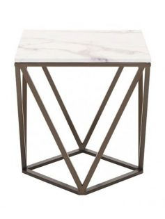 Brass marble end table 237x315