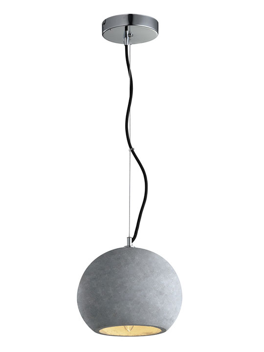 Concrete round pendant light