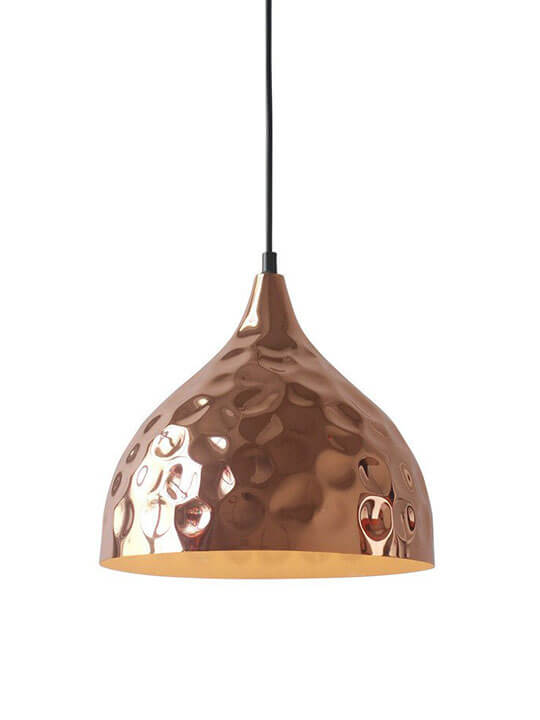 Copper Texture Pendant Light