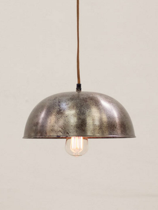Industrial Metal Dome Pendant Light