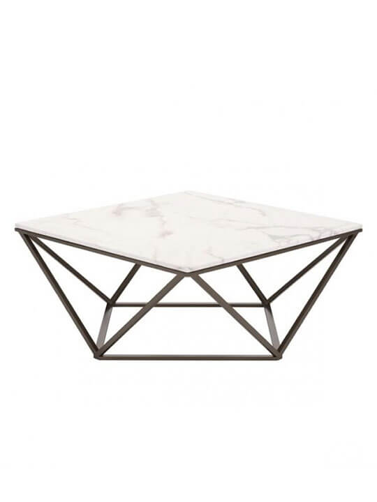 Marble Brass Coffee Table Modern Furniture Brickell Collection - Marble and brass end table