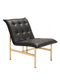 Marmont Gold Leather Lounge Chair 237x315