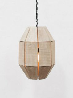 Natural Wood Pendant Light 237x315