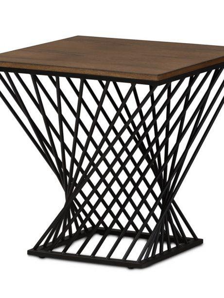 Twist Black Wire Wood Side Table 1 461x614