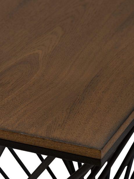 Twist Black Wire Wood Side Table 2 461x614