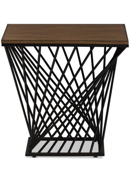Twist Black Wire Wood Side Table 4 461x614