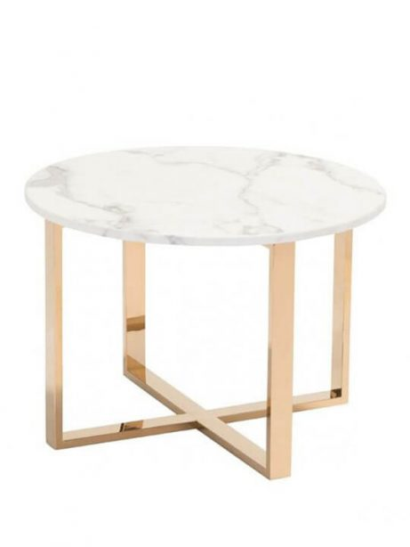 White marble gold end table 461x614