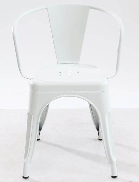 White metal cafe chair 461x600