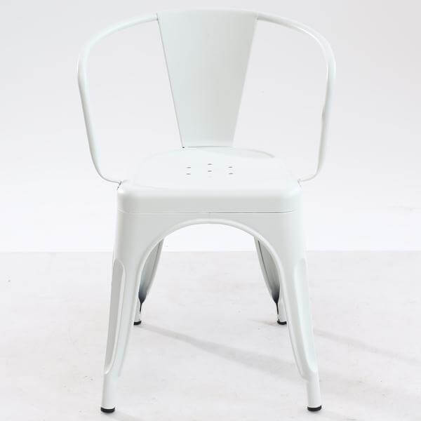 White metal cafe chair