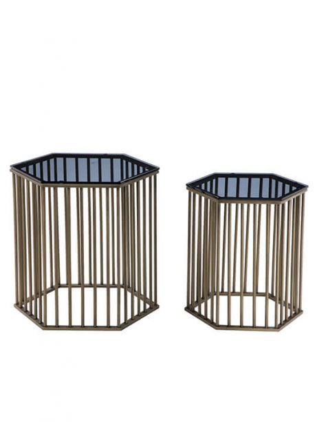 art deco brass end table set 461x614