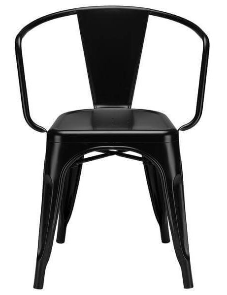 black metal cafe chair 2 461x600