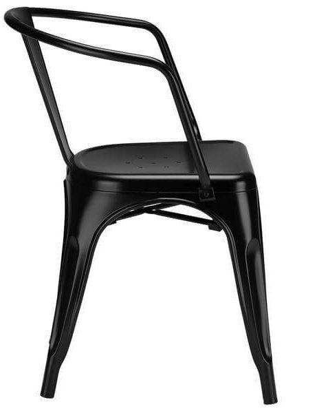 black metal cafe chair 3 461x600