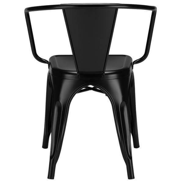 black metal cafe chair 4