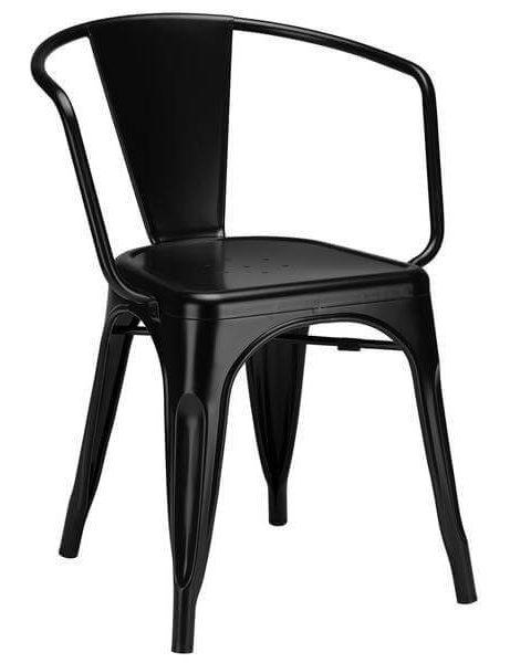 black metal cafe chair 461x600