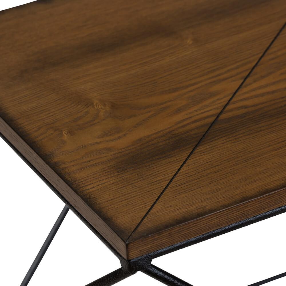black wire wood geo side table 2
