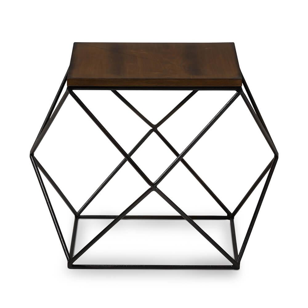 black wire wood geo side table 3