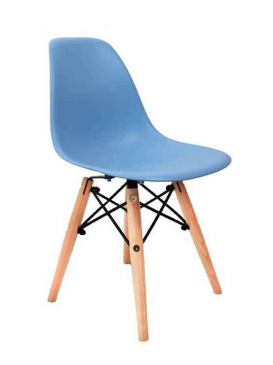 blue kids eames chair