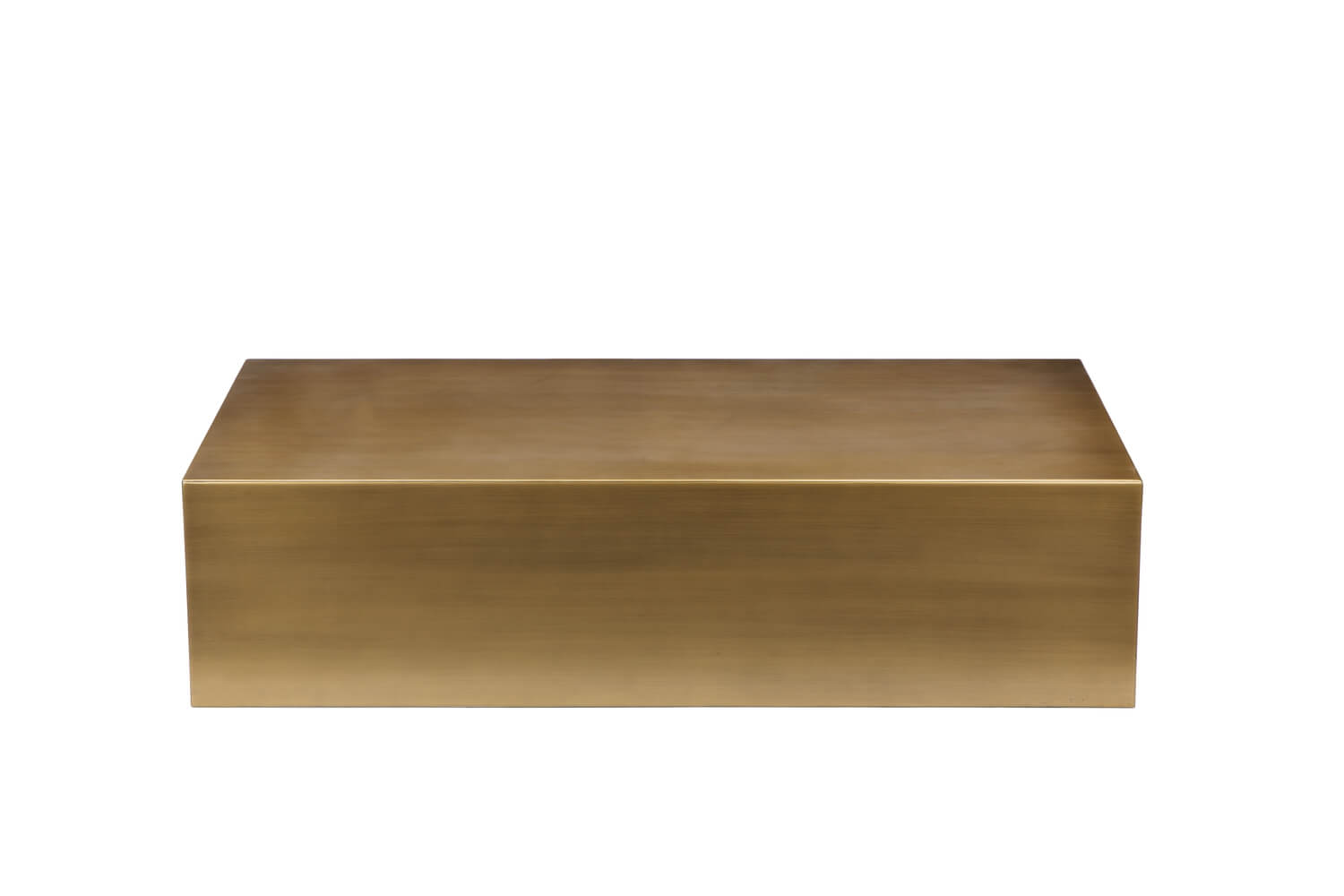 brass cube coffee table