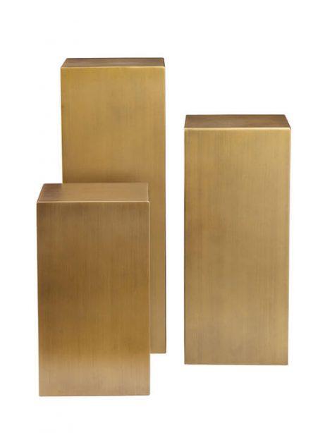brass cube pedestal set 461x614