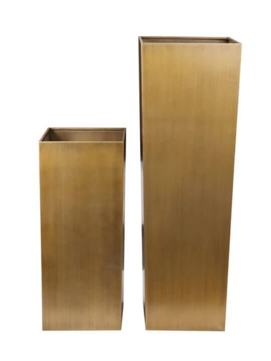 brass planter set