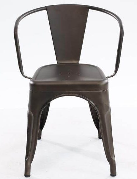 Cafe Metal Armchair Gunmetal 2 461x600