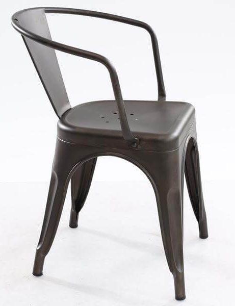 cafe metal armchair gunmetal 3 461x600