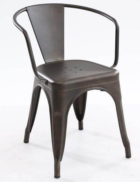 cafe metal armchair gunmetal 461x600