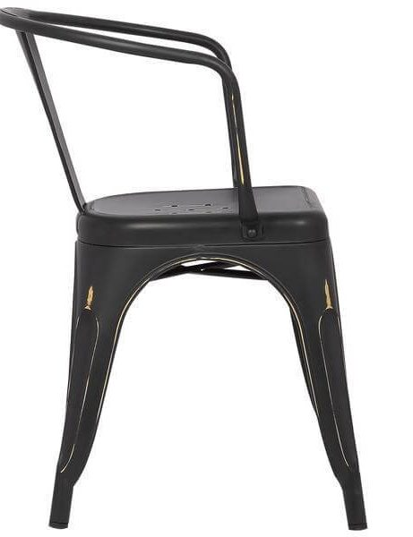 distressed black metal cafe chair 3 461x600
