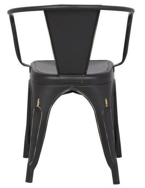 distressed black metal cafe chair 4 461x600